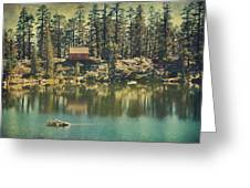The Old Days By The Lake Greeting Card