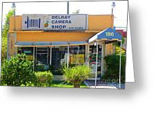 The Old Delray Camera Shop And Studio. Florida. Greeting Card