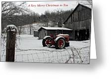 The Old Family Farm Christmas Card Greeting Card