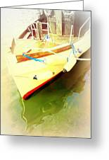 One Day The Old Ferry Is Going To Sink  Greeting Card