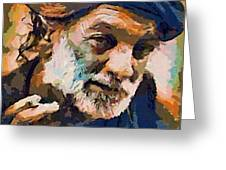 The Old Fisherman Greeting Card