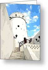 The Old Fort Greeting Card by Peter Waters