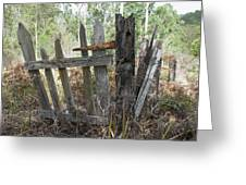 The Old Gate Could Use Some Oil. Greeting Card