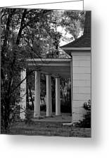 The Old Homestead In Black And White Greeting Card