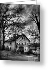 The Old House Down The Street Greeting Card