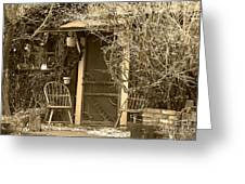 The Old House In Genoa Nevada Greeting Card by Artist and Photographer Laura Wrede