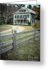 The Old House On The Hill  Greeting Card