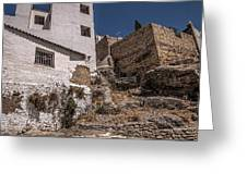 The Old Houses Of Ronda. Andalusia. Spain Greeting Card
