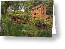 The Old Mill And Pond Greeting Card