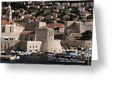 The Old Port Of Dubrovnik Greeting Card
