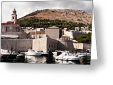 The Old Port Under The Ramparts Greeting Card