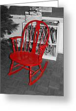 The Old Red Rocking Chair Greeting Card