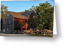 The Old Sawmill Greeting Card by Olivier Le Queinec