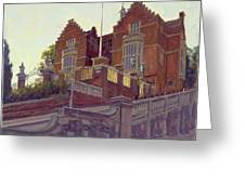 The Old Schools, Harrow Oil On Canvas Greeting Card
