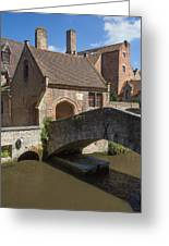 The Old Stone Bridge In Bruges Greeting Card