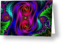 The Old Stuffed Chair - Fractal Greeting Card