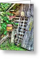 The Old Tool Shed Greeting Card by Lanita Williams