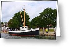 The Old Tugboat At Mystic Greeting Card