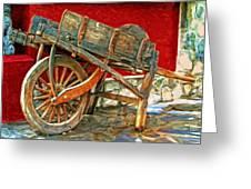 The Old Wheelbarrow Greeting Card