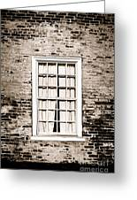 The Old Window Greeting Card by Olivier Le Queinec