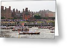 The Olympic Torch Leaves Hampton Court On The Final Leg Of Its J Greeting Card