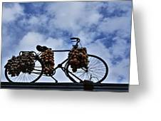 The Onion Bicycle Greeting Card