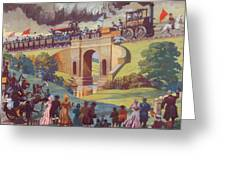 The Opening Of The Stockton And Darlington Railway Macmillan Poster Greeting Card by Norman Howard