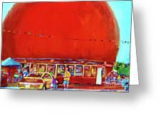 The Orange Julep Montreal Summer City Scene Greeting Card