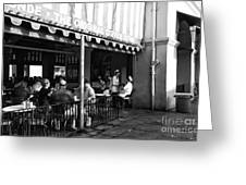 The Original Coffee Stand Mono Greeting Card