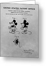 The Original Mickey Mouse Patent Design Greeting Card