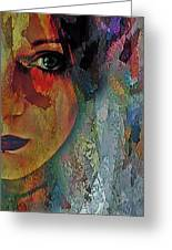 The Other Left Abstract Portrait Greeting Card