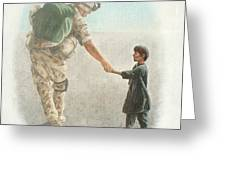 The Outcome Of War Is In Our Hands Greeting Card