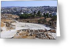 The Oval Plaza At Jerash In Jordan Greeting Card