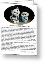 The Owl And The Pussy Cat Greeting Card by John Chatterley