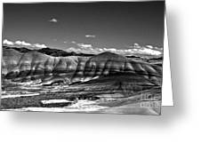 The Painted Hills Bw Greeting Card