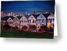 The Painted Ladies Of San Francsico Greeting Card