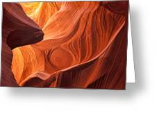 The Painted Rocks Of Lower Antelope Canyon Greeting Card
