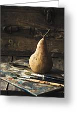 The Painter's Pear Greeting Card by Amy Weiss