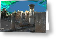 The Palaestra -temple Of Apollo Greeting Card
