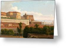 The Palazzo Reale And The Harbor. Naples Greeting Card