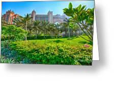 The Palm - Atlantis - Dubai Greeting Card by George Paris