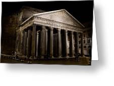 The Pantheon At Night Greeting Card