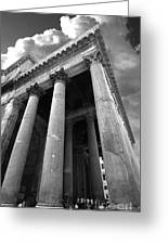 The Pantheon In Rome Bw Greeting Card