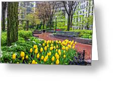 The Park At Post Office Square Greeting Card