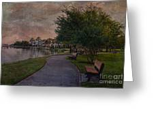 The Park Bench Greeting Card