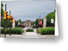 The Parkway And Art Museum Greeting Card
