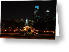 The Parkway At Night Greeting Card