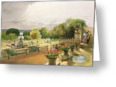 The Parterre Harewood House Near Leeds Greeting Card
