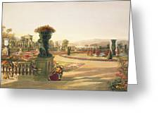 The Parterre  Trentham Hall Gardens Greeting Card