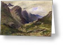 The Pass Of Glencoe, 1852 Greeting Card by William Bennett